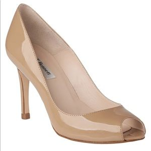 New L.K. Bennett Olympia Peep Toe Stiletto Shoes